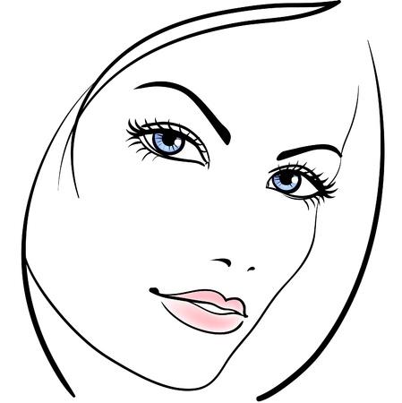 beauty girl face icon
