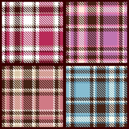 Illustration for set of seamless checkered pattern  - Royalty Free Image