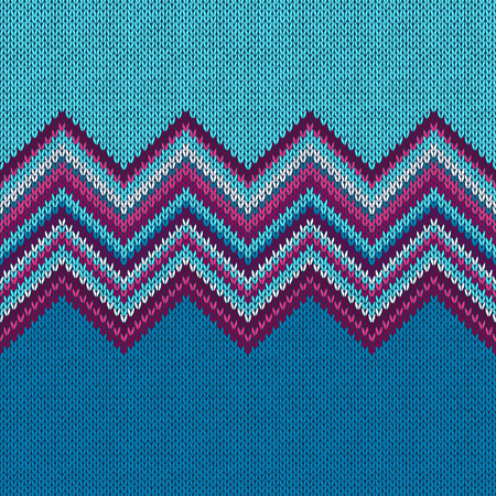 Illustration for Seamless knitted pattern. Style blue rpurple christmas background - Royalty Free Image
