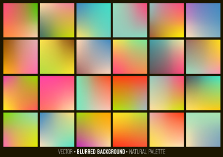 Illustration pour Blurred abstract backgrounds set. Smooth template design for creative decor covers, banners and websites. - image libre de droit