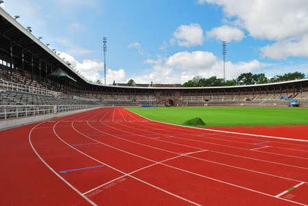 Stockholm Stadium in a sunny summer day. Sweden