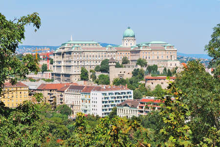 Budapest, Hungary. Top-view of Buda  from the Gellert Hill
