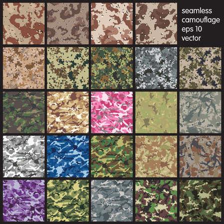 Foto de Seamless set of camouflage pattern vector - Imagen libre de derechos