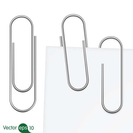 Ilustración de Paperclip set. Vector - Imagen libre de derechos