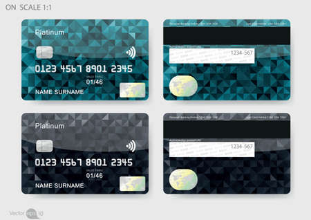 Illustration for credit cards - Royalty Free Image