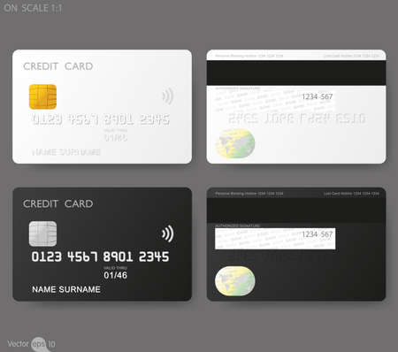 Illustration for credit cards template - Royalty Free Image