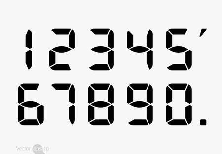 Illustration pour Calculator digital numbers. - image libre de droit
