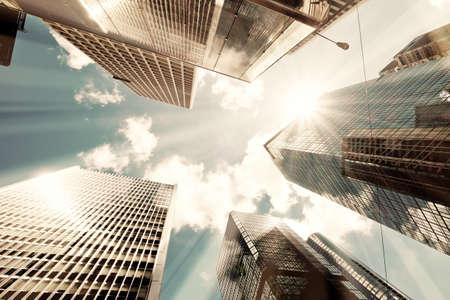 Photo pour Skyscrapers shot with perspective - image libre de droit