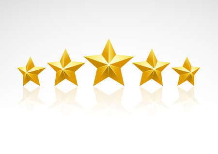 Illustration for Five star ranking icons - Royalty Free Image