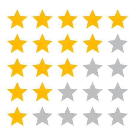 Ilustración de Five star ranking icons - Imagen libre de derechos
