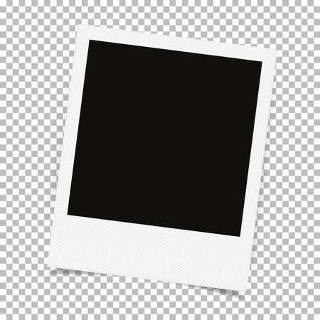 Illustration pour Realistic old photo frame - image libre de droit