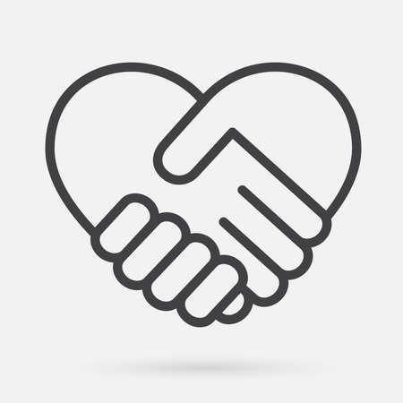 Illustration pour Heart handshake Icon - image libre de droit