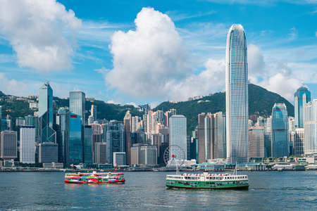 Photo for Hong Kong Skyline and Victoria Harbor - Royalty Free Image