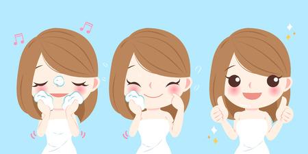 Vector Of Beauty Cartoon Skin Care Woman Id 76972870 Royalty Free Image Stocklib
