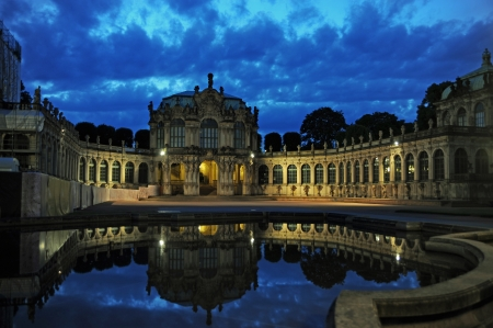 Zwinger, Dresden, Germany, by night