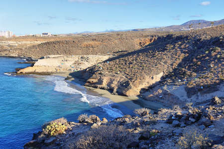 Foto de Diego Hernandez beach in Adeje, Tenerife, Canary islands, Spain - Imagen libre de derechos
