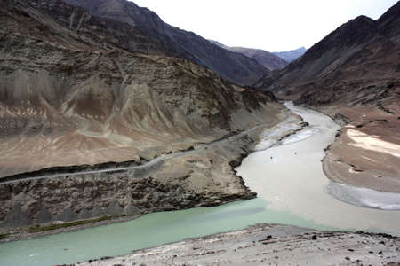 Confluence of Indus and Zanskar