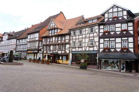 Historic town hall in the old town, Uslar, Lower Saxony, Germany
