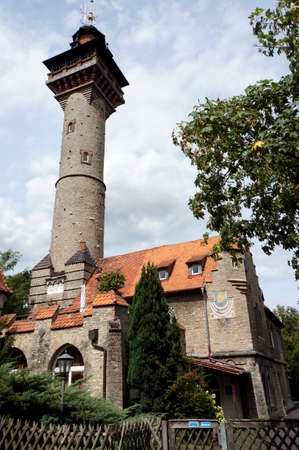 Water tower Frankenwarte, Wurzburg, Bavaria, Germany