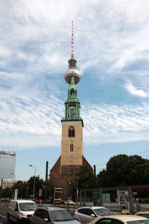 St. Mary\'s Church in Alexanderplatz, Berlin, Germany