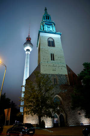 St. Mary\'s Church and TV Tower, Berlin, Germany