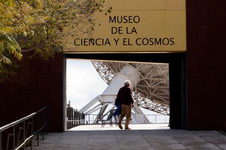 Radio telescope at the Museum f? R Science and the Cosmos, La Laguna, Tenerife, Spain