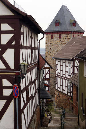 Medieval Town with gate, Staufenberg, Hesse, Germany
