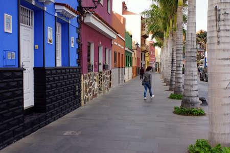 Reorganized Strassenzug in the historic old town, Puerto de la Cruz, Tenerife, Canary Islands, Spain