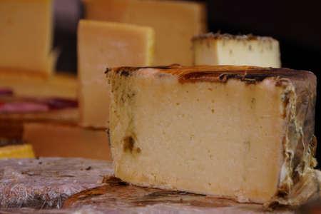 Cheese on market stall, Puerto de la Cruz, Tenerife, Canary Islands, Spain