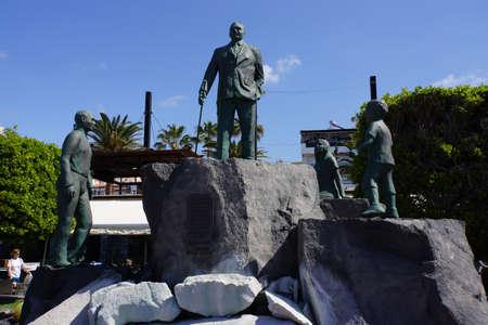 Monument to Don Pancracio Socas Garcia, Puerto de Santiago, Tenerife, Canary Islands, Spain