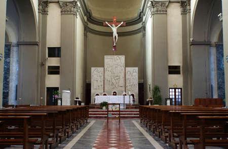 Foto per Church of the Holy Family, Marina di Carrara, Tuscany, Italy - Immagine Royalty Free