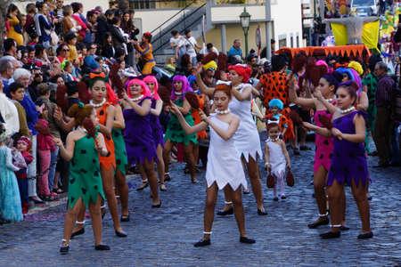 big carnival parade, Santa Cruz, Madeira, Portugal