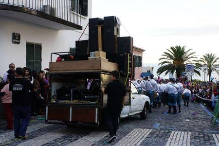 grosse Karnevalsparade, Santa Cruz, Madeira, Portugal