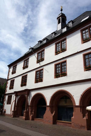 Old town hall in Lohr am Main, Bavaria, Germany