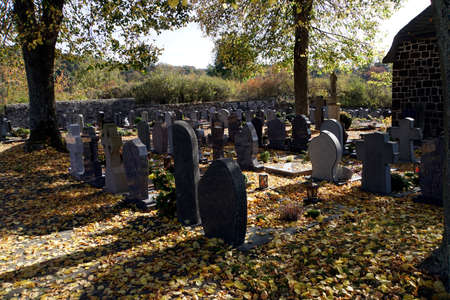 Symbol picture Cemetery in autumn, Elm, Rhineland-Palatinate, Germany