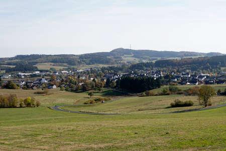View over Kelberg, Rhineland-Palatinate, Germany