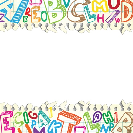 Foto de Background made of papers with colorful letters - Imagen libre de derechos