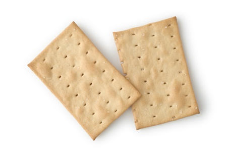 Two Crackers as Dieting Food for Breakfast or Snacks