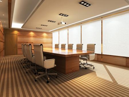 Photo pour 3D Office meeting room - image libre de droit