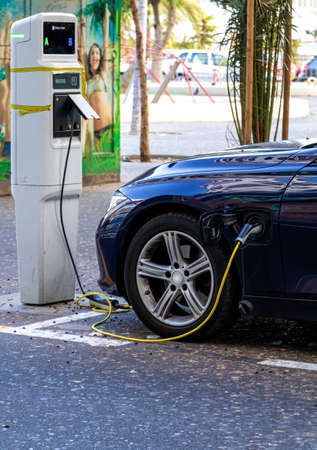 Photo for the power supply for Charging of an electric car - Royalty Free Image