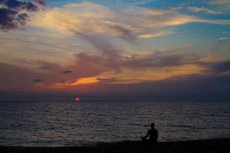 Meditation on sunset