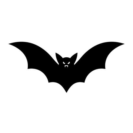Illustration pour Simple illustration of bat silhouette for halloween day greeting cards. Flat style - image libre de droit