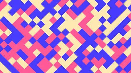 Illustration pour Abstract geometric background with pink, blue, yellow and red polygons. - image libre de droit
