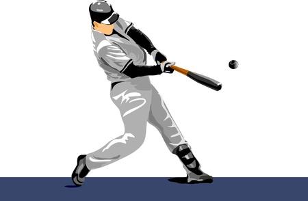 baseball player. Easy change colors. pitch ball
