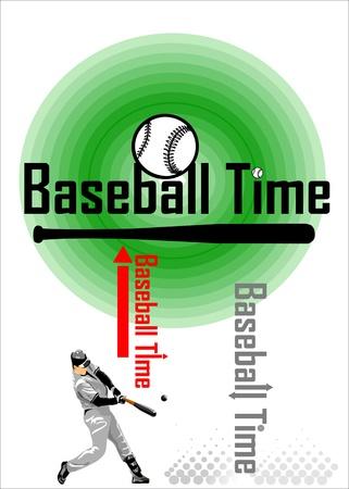 Baseball Time Baseball Batter Vector Illustration