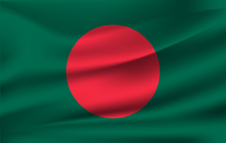 3D Waving Flag of Bangladesh 10 eps