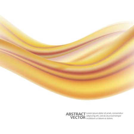 Illustration pour Abstract waves on a white background. Vector Illustration. EPS10 - image libre de droit