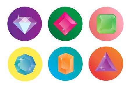 Photo pour Diamond vector icons set. - image libre de droit