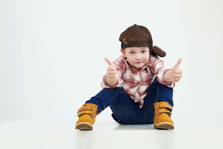 Foto per fashionable little boy.stylish kid in suit.funny child - Immagine Royalty Free