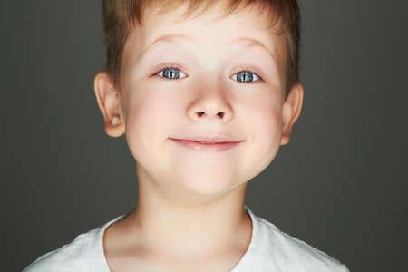 Photo pour smiling child. funny little boy. joy. 5 years old.kids emotion - image libre de droit